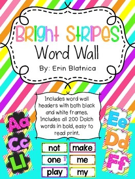 Bright Stripes Word Wall