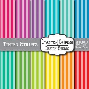 Bright Tinted Stripe Digital Paper 1230