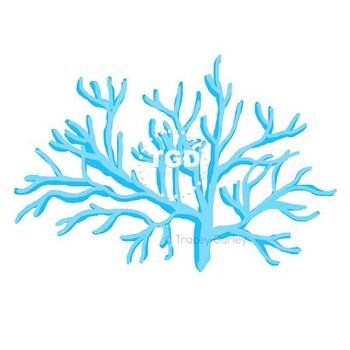 Bright Turquoise Coral, style 1 - turquoise coral clip art