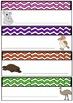 Bright Wave Australian Animals Desk Tags Locker Labels  Au