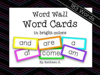 Bright Word Wall Cards