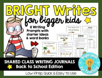 Bright Writes For Bigger Kids: Journal Prompts {Aug./Sept.}