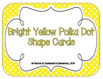 Bright Yellow Polka Dot Shape Cards