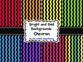 Bright and Bold Digital Backgrounds {Chevron}
