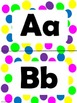 Bright and Neon Polka Dot Alphabet (large)