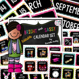 Classroom Calendar Set for the Whole Year-Bright and Sassy