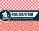 Bright pink grapefruit citrus zest digital papers summer f
