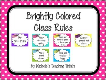 Brightly Colored Class Rules