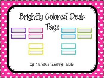 Brightly Colored Desk Tags