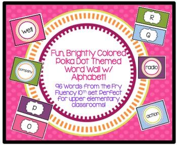 Brightly Colored Polka Dot Themed Upper Elementary Fry Flu