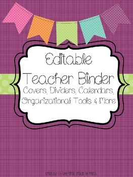Brightly Colored Teacher Binder and Organizational Tool