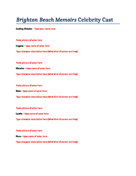 Brighton Beach Memoirs Celebrity Cast List Project
