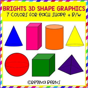 Brights 3-D Shape Clipart