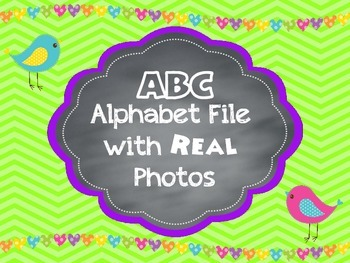 Brights Alphabet ABC Letter Line Posters with REAL Photos