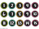 Brights & Burlap Number Labels 1-45 {1 inch} FREEBIE