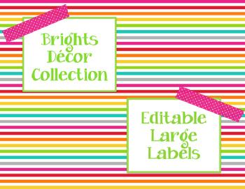 Brights Decor: Editable Large Labels
