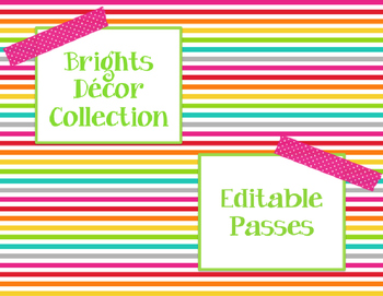 Brights Decor: Editable Passes