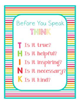 Brights Decor: THINK Poster