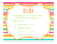 Brights Decor: Writing Clip Chart