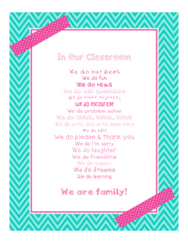 Brights Decor: In Our Classroom, We Do Poster