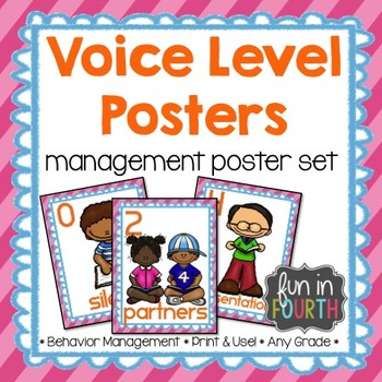 Voice Level Management Posters Bright Themed