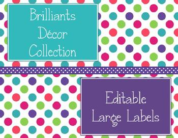 Brilliants Decor: Editable Large Labels