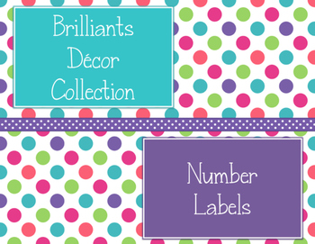 Brilliants Decor: Number Labels