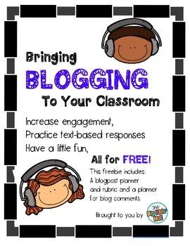 Bringing Blogging to Your Classroom: A Big Kids' Freebie