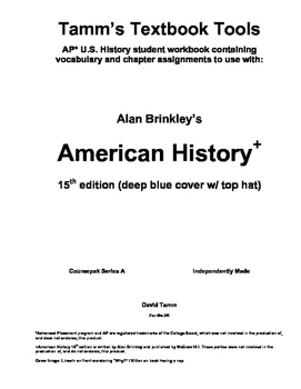 Brinkley American History 15th edition Ch. 1 and 2 Packet