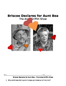 Briscoe Declares for Aunt Bea -- Andy Griffith  Manners an