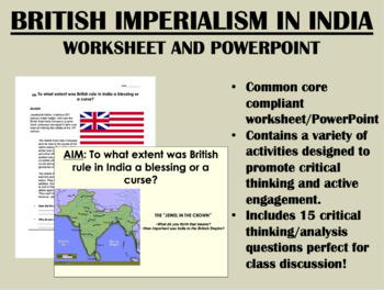 British Imperialism in India - Global/World History - Common Core