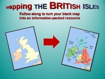 British Isles Map Activity: Fun, engaging follow-along 25-