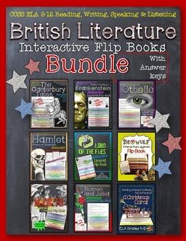 BRITISH LITERATURE INTERACTIVE LAYERED FLIP BOOKS BUNDLE L