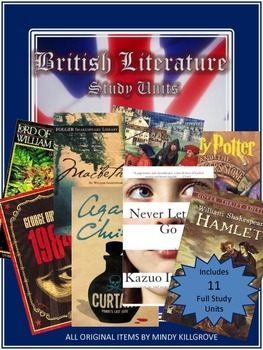 British Literature Novel Study Unit Collection: Includes 1
