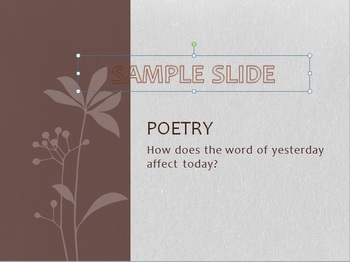 British Poetry Unit – PowerPoint