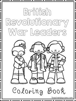 British Revolutionary War Leaders Coloring Book worksheets