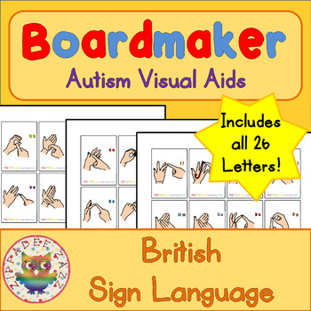 British Sign Language / Finger Spelling Flashcards (BSL UK)