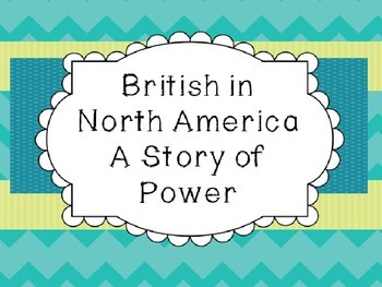 Michigan History: British in North America Unit - A Story