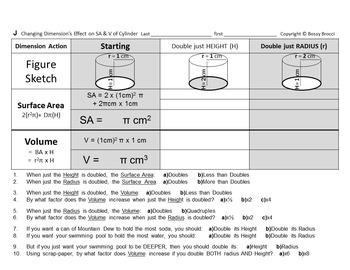 Brocci Bundles: Surface Area Volume Changing Dimensions Co
