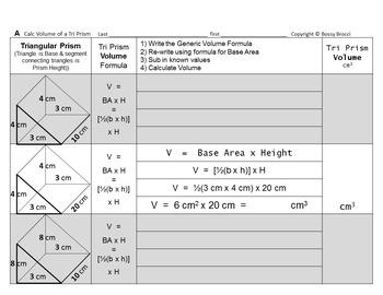 Brocci Bundles: Volume - Volume of Tri & Rectangular PRISM