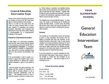 Brochure - How GEI / SIT / RTI Works - Editable - Excellen