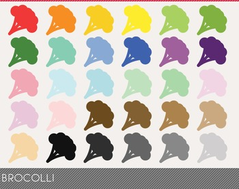 Brocolli Digital Clipart, Brocolli Graphics, Brocolli PNG