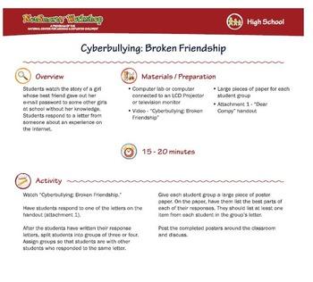 Broken Friendship; Cyberbullying