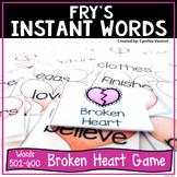 Broken Heart - A Sight Word Game