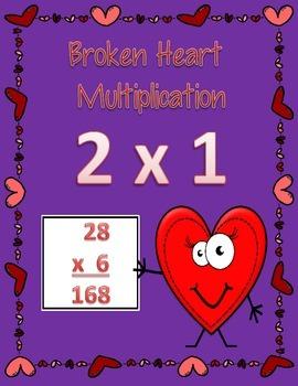 Broken Heart Multiplication 2 x 1