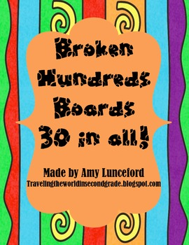 Broken Hundreds Boards- 30 in all!