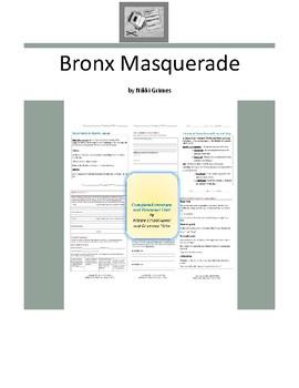 Bronx Masquerade Complete Literature and Grammar Unit