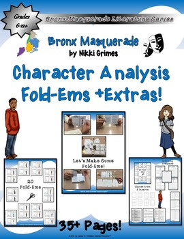 Bronx Masquerade by Nikki Grimes Mini Character Analysis Fold-Ems