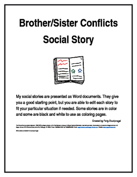 Brother/Sister Conflicts Social Story
