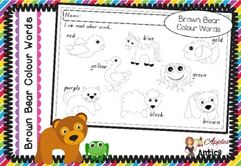 Brown Bear, Brown Bear - Colour Words